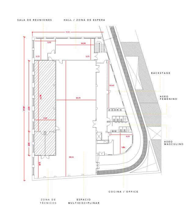 Plano planta Espacio Harley Ventas