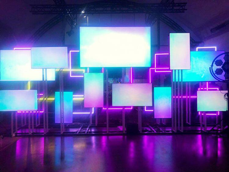 Composición de pantallas led.